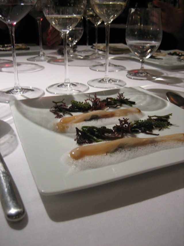 couteaux with sea weed
