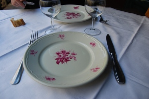 Charming old fashioned table settings