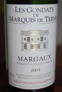 Les Gondats de Marquis de Terme 2004