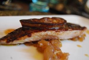 Mackrel with foie gras