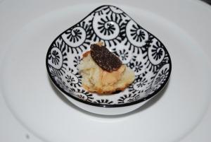 Truffle, foie gras and baguette