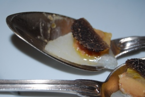 Jerusalem artichoke, foie gras and truffle