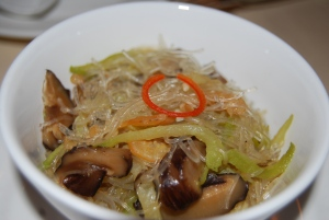 noodles with shitake mushrooms