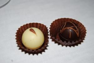 white truffles and chocolate