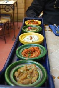 mixed Morrocan salads
