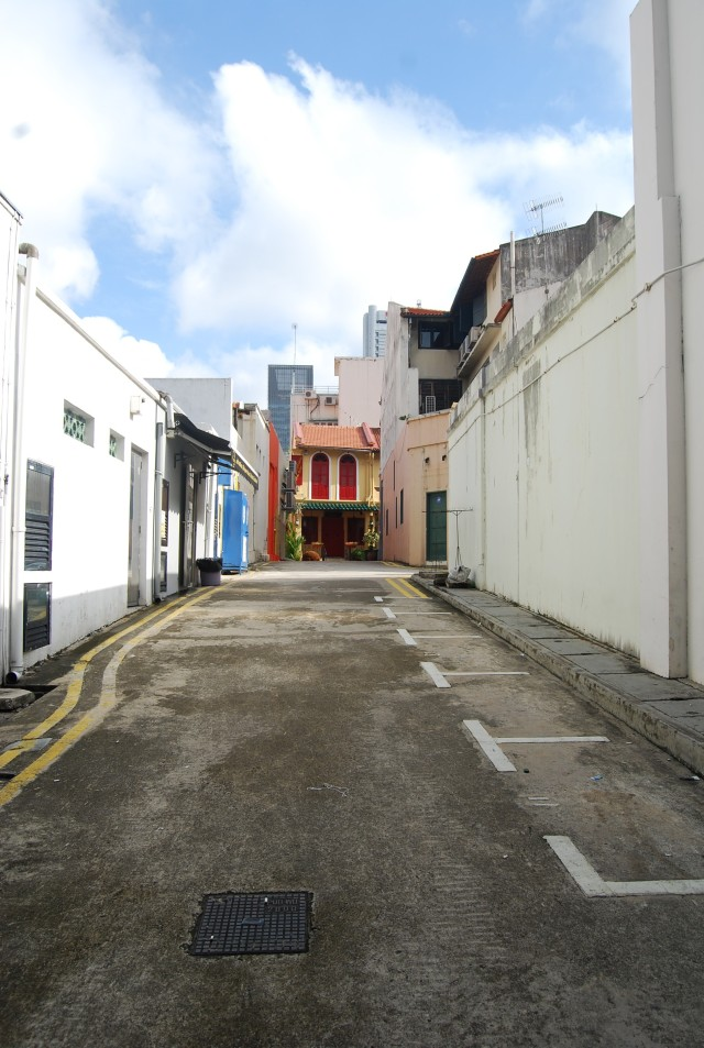 Empty street of Chinatown in Singapore