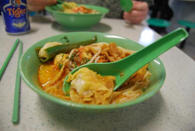 Laksa spicy breakfast soup