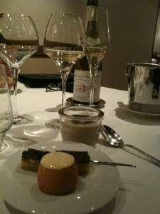 Truffle dish with Chassagne 1er Cru Les Embrazées