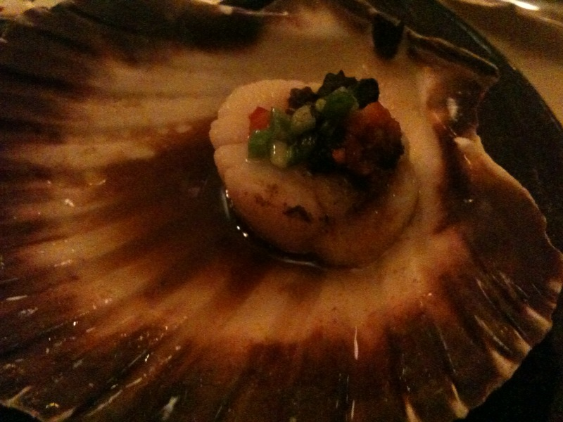scallop with spicy soy sauce