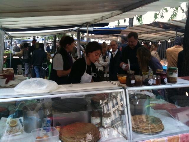 bio market crepe stand